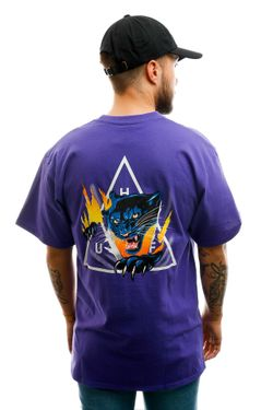 Afbeelding van HUF T-shirt Jungle Cat Tt S/S Tee Grape TS01111-GRAPE