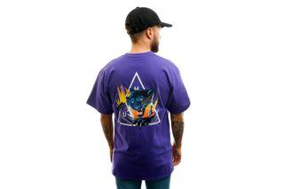 Foto van HUF T-shirt Jungle Cat Tt S/S Tee Grape TS01111-GRAPE
