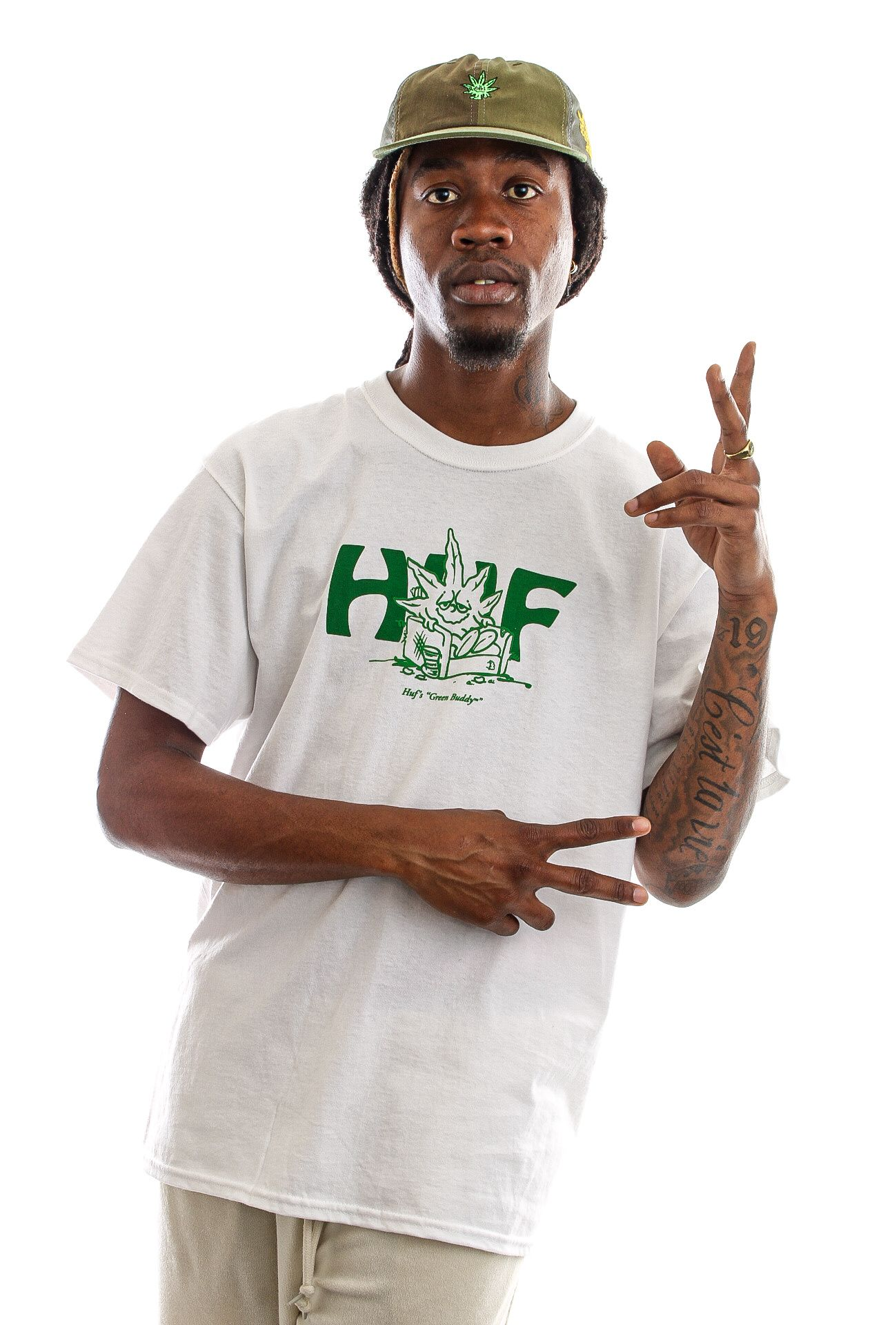 Afbeelding van HUF T-Shirt In Da Couch S/S Tee White TS01608
