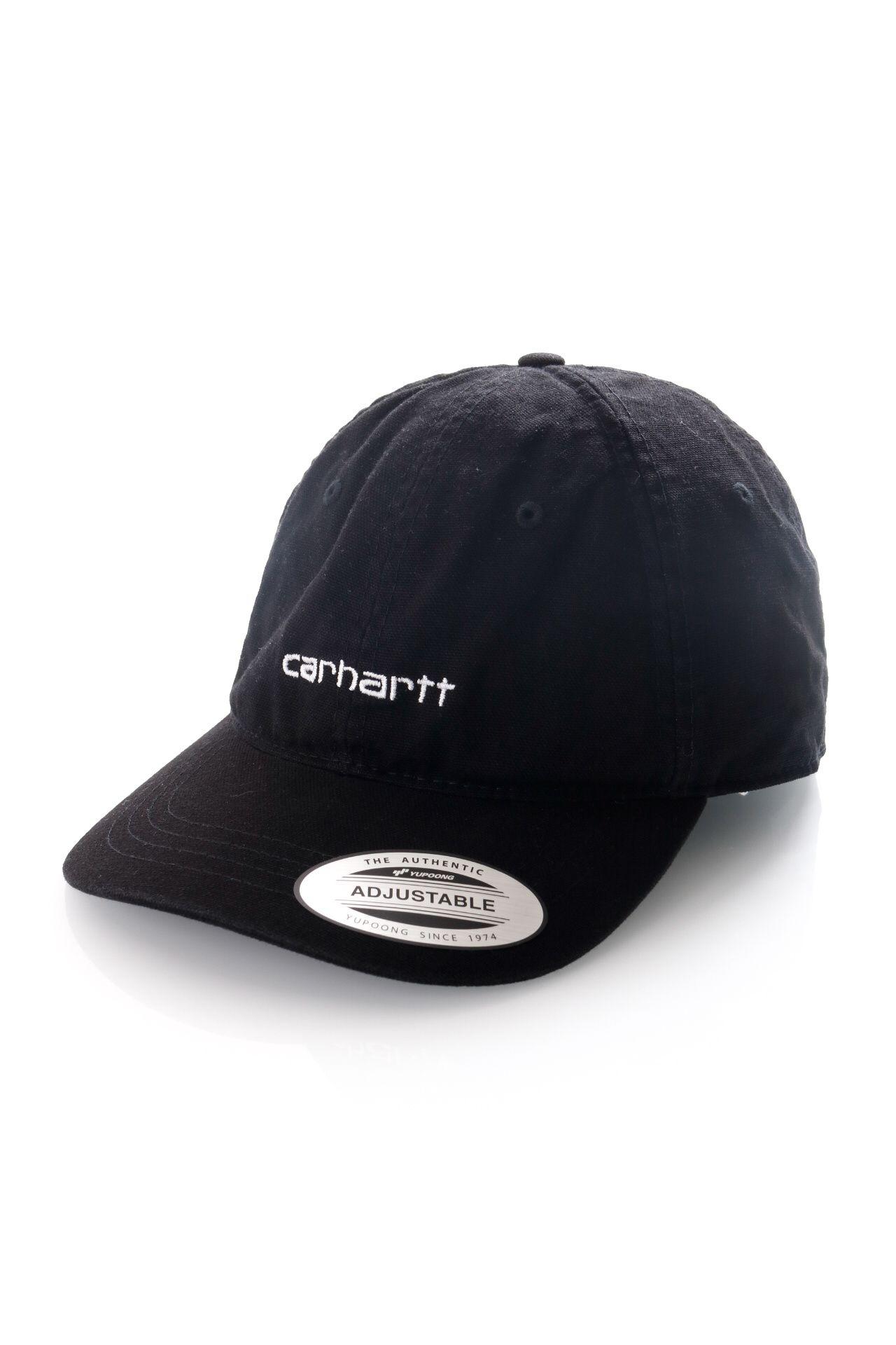 Afbeelding van Carhartt Dad Cap Canvas Coach Cap Black / White I028165