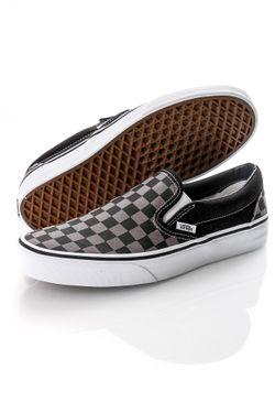 Afbeelding van Vans Sneakers UA Classic Slip-On Black/Pewter Checkerboard VN000EYEBPJ1