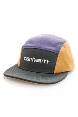 Afbeelding van Carhartt 5 Panel Cap Carhartt Tricol Cap Dark Teal / Cold Viola / Winter Sun I028344