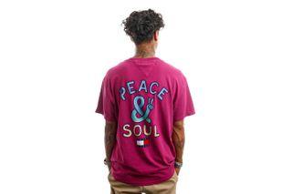 Foto van Tommy Jeans T-Shirt TJM PEACE AND SOUL Autumn Plum DM0DM11623