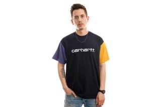 Foto van Carhartt T-shirt S/S Carhartt Tricol T-Shirt Dark Navy I028359