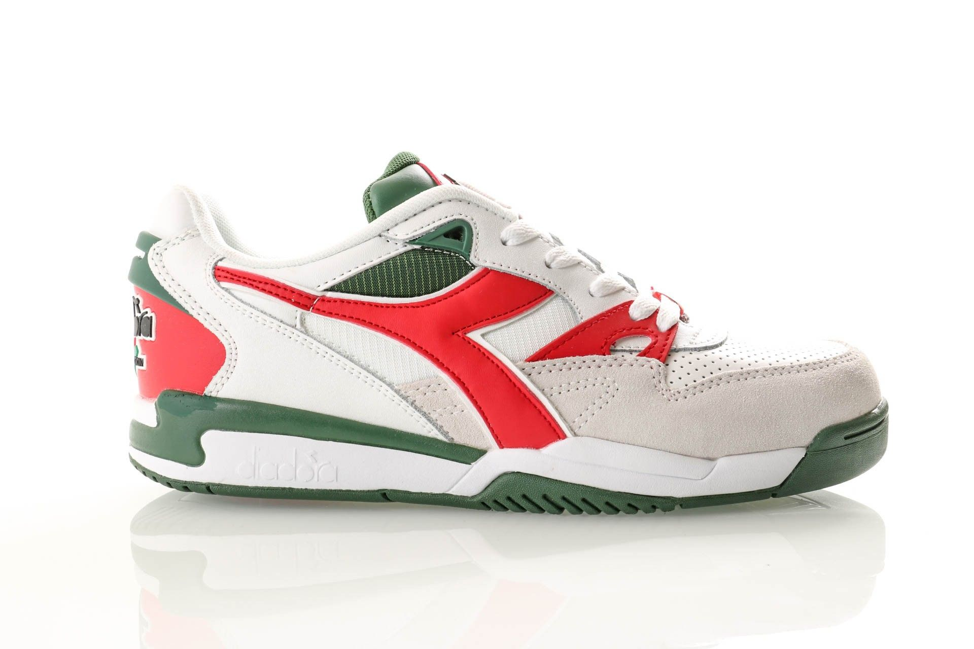 Afbeelding van Diadora Rebound Ace Beta 501175499 Sneakers White/Chinese Red