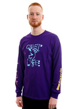 Afbeelding van The Quiet Life Longsleeve Jazzy Long Sleeve Purple QL-21SPD1-1133