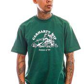 Carhartt T-shirt S/S Flat Tire T-Shirt Treehouse / White I029931