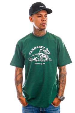 Afbeelding van Carhartt T-shirt S/S Flat Tire T-Shirt Treehouse / White I029931