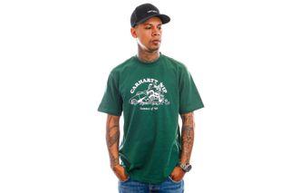 Foto van Carhartt T-shirt S/S Flat Tire T-Shirt Treehouse / White I029931