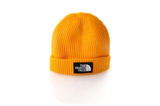 Foto van The North Face Beanie Youth TNF Box Logo Cuff Beanie Yellow NF0A3FMV56P1