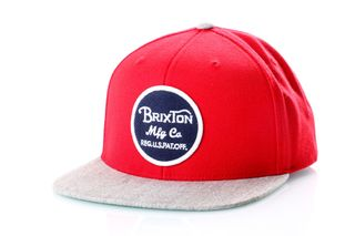 Foto van Brixton Snapback Cap Wheeler Snapback Red/Light Heather Grey 375
