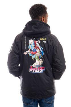 Afbeelding van HUF Jas Chun-Li & Cammy Coach Jacket Black JK00321