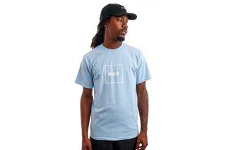 Foto van HUF T-Shirt HUF ESSENTIALS BOX LOGO Light Blue TS00507