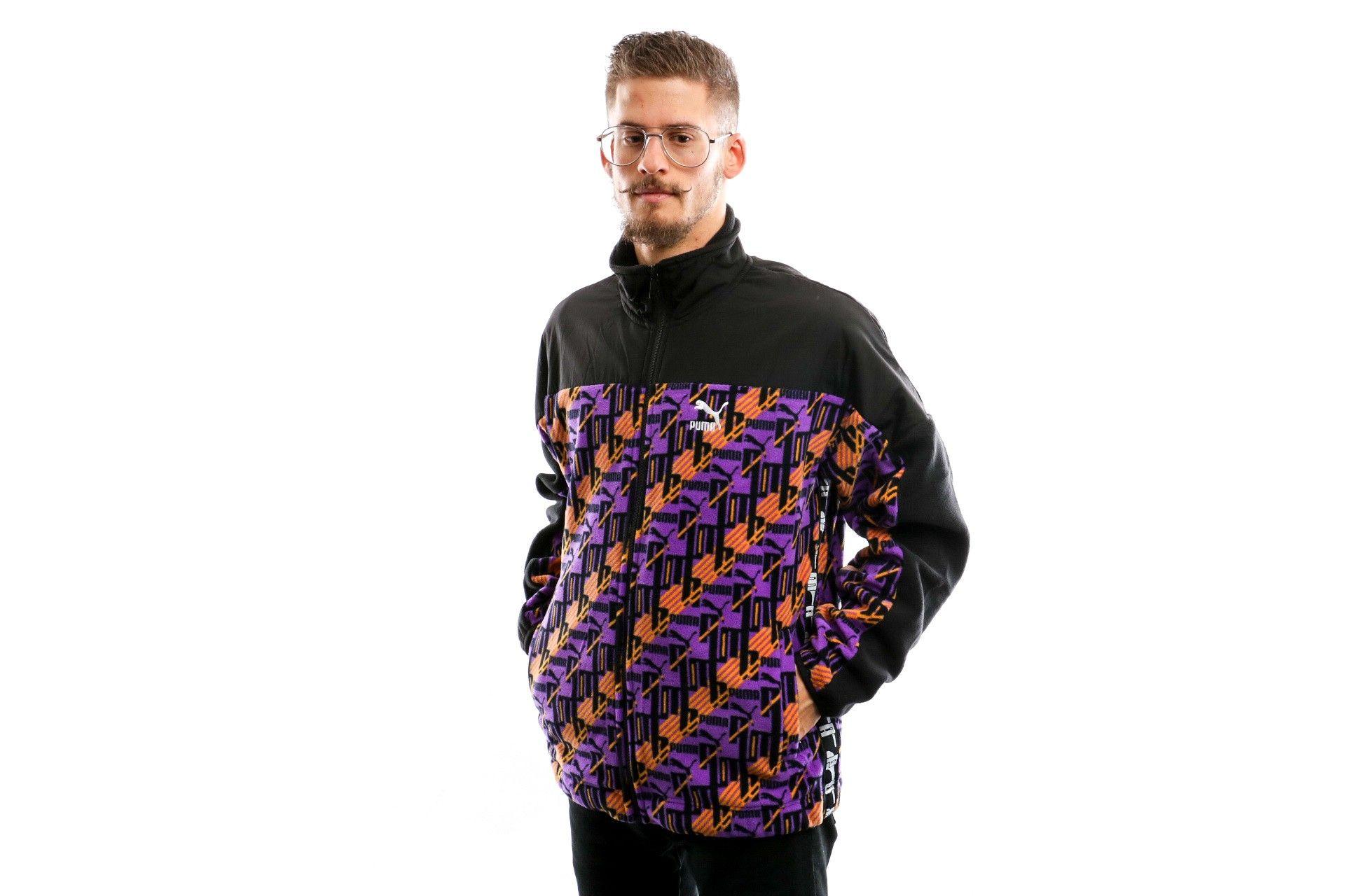 Afbeelding van Puma Xtg Woven Jacket Aop Jaffa Orange-Purple 595540 17