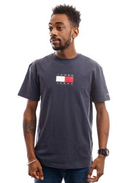 Afbeelding van Tommy Hilfiger T-shirt Tjm Small Flag Tee Twilight Navy DM0DM08351