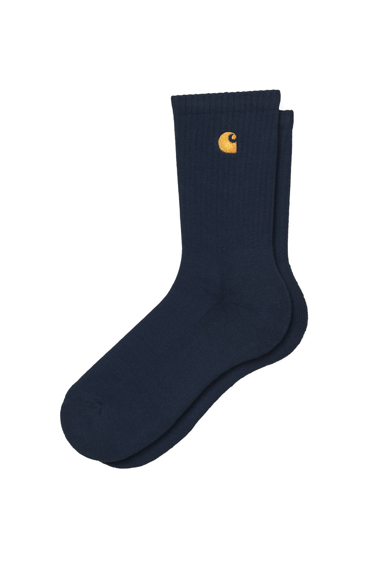 Afbeelding van Carhartt WIP Sokken Chase Socks Dark Navy/Gold I029421