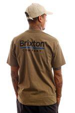 Brixton T-shirt Palmer Line S/S STT Worn Wash Military Olive 16423