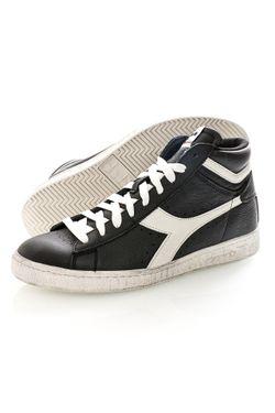 Afbeelding van Diadora Sneakers Game L High Waxed Black/Cloud Dancer C1051