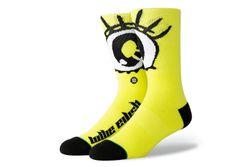 Afbeelding van Stance X Billie Eilish Anime Eyes U558B19Ani Sokken Neon yellow