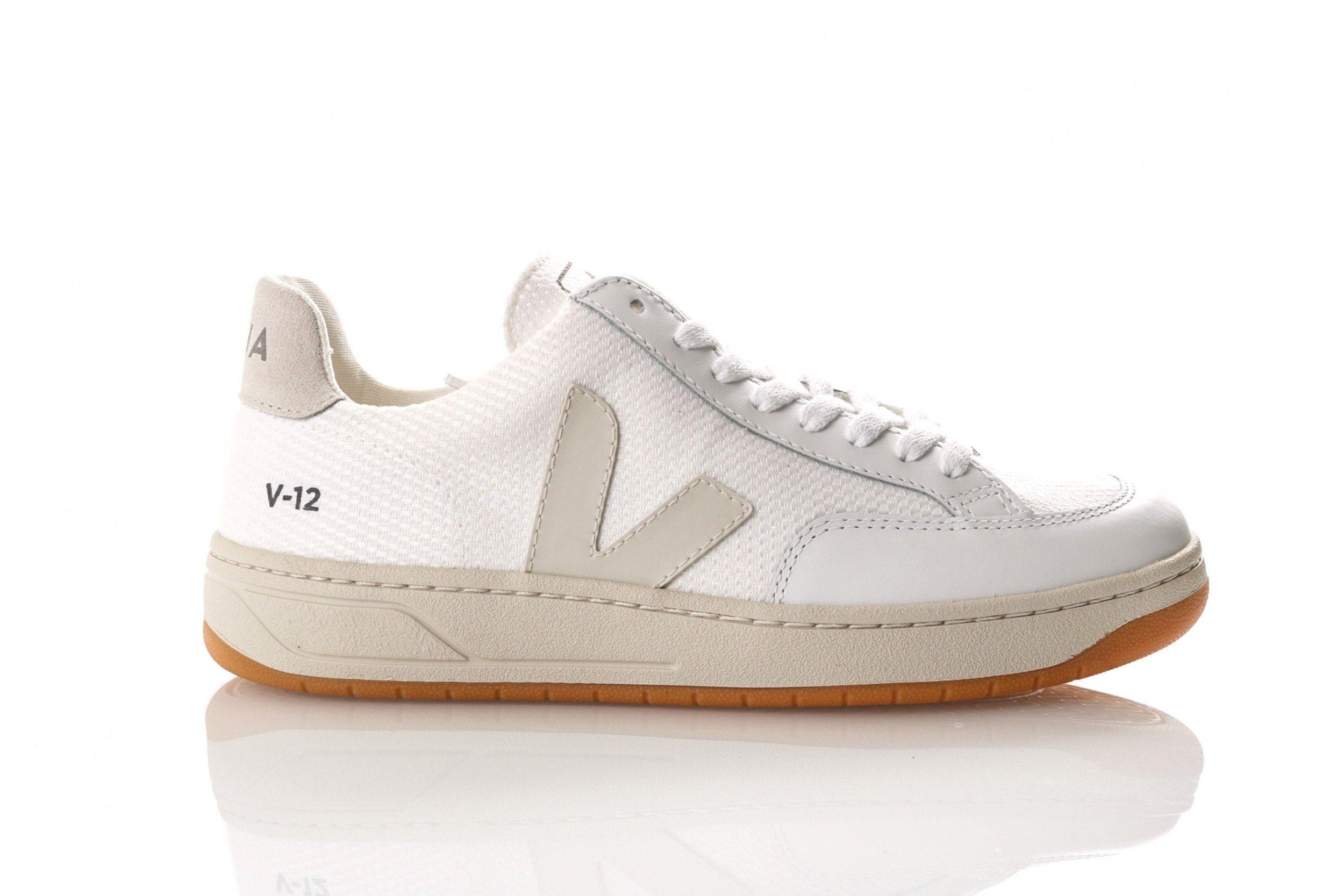 Afbeelding van Veja V-12 Xd011535 Sneakers White / Natural