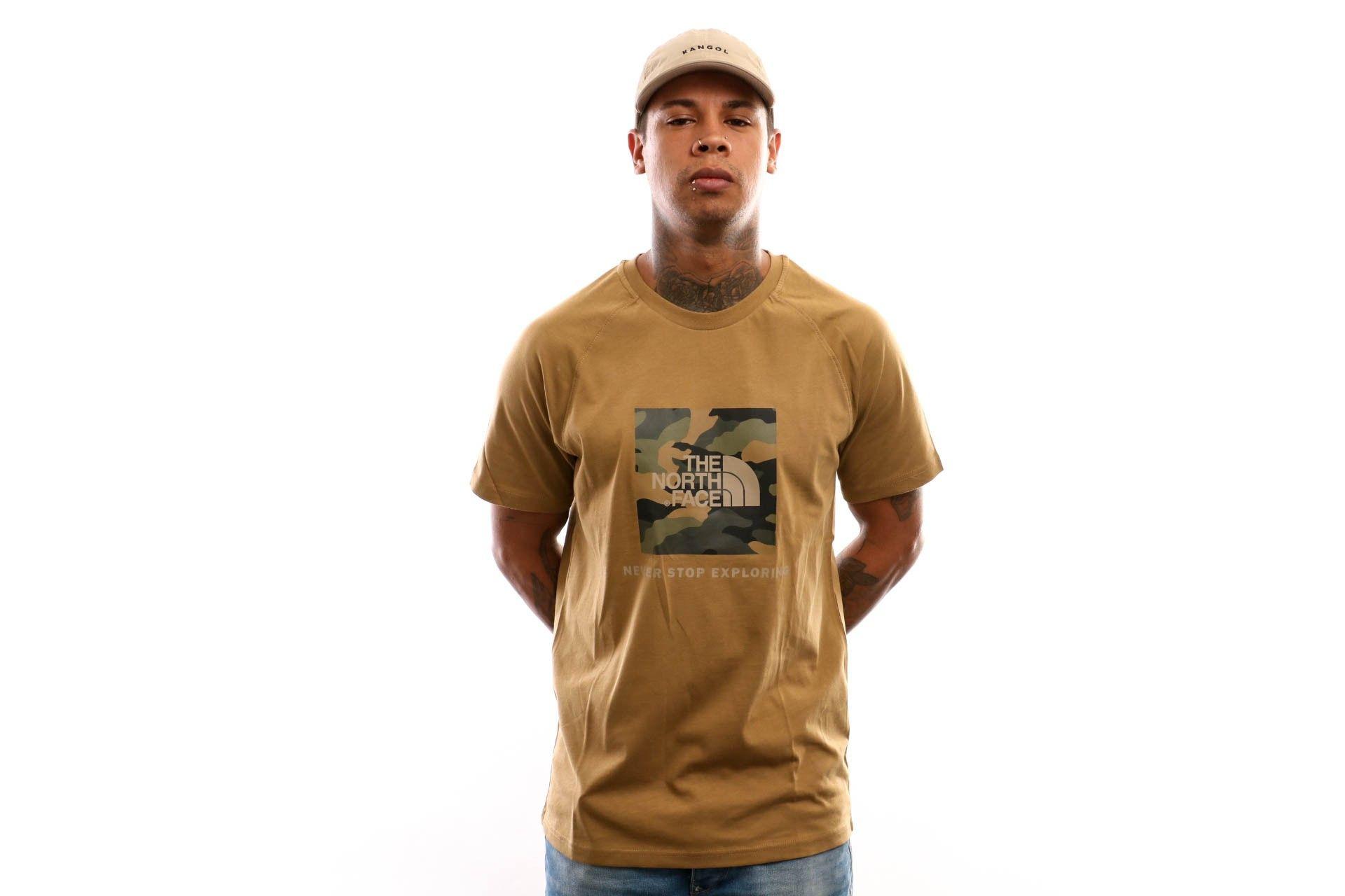 Afbeelding van The North Face T Shirt Raglan Redbox Tee British Khaki Nf0A3Bqo