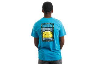 Foto van The North Face NF00CEQ8E3Z1 T-Shirt S/S North Faces Meridian Blue/TNF White