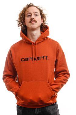 Afbeelding van Carhartt Hooded Hooded Carhartt Sweat Cinnamon / Black I027093