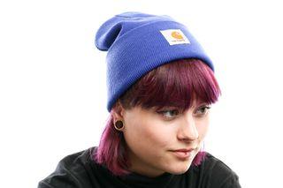Foto van Carhartt Wip Acrylic Watch Hat I020222 Muts Thunder Blue