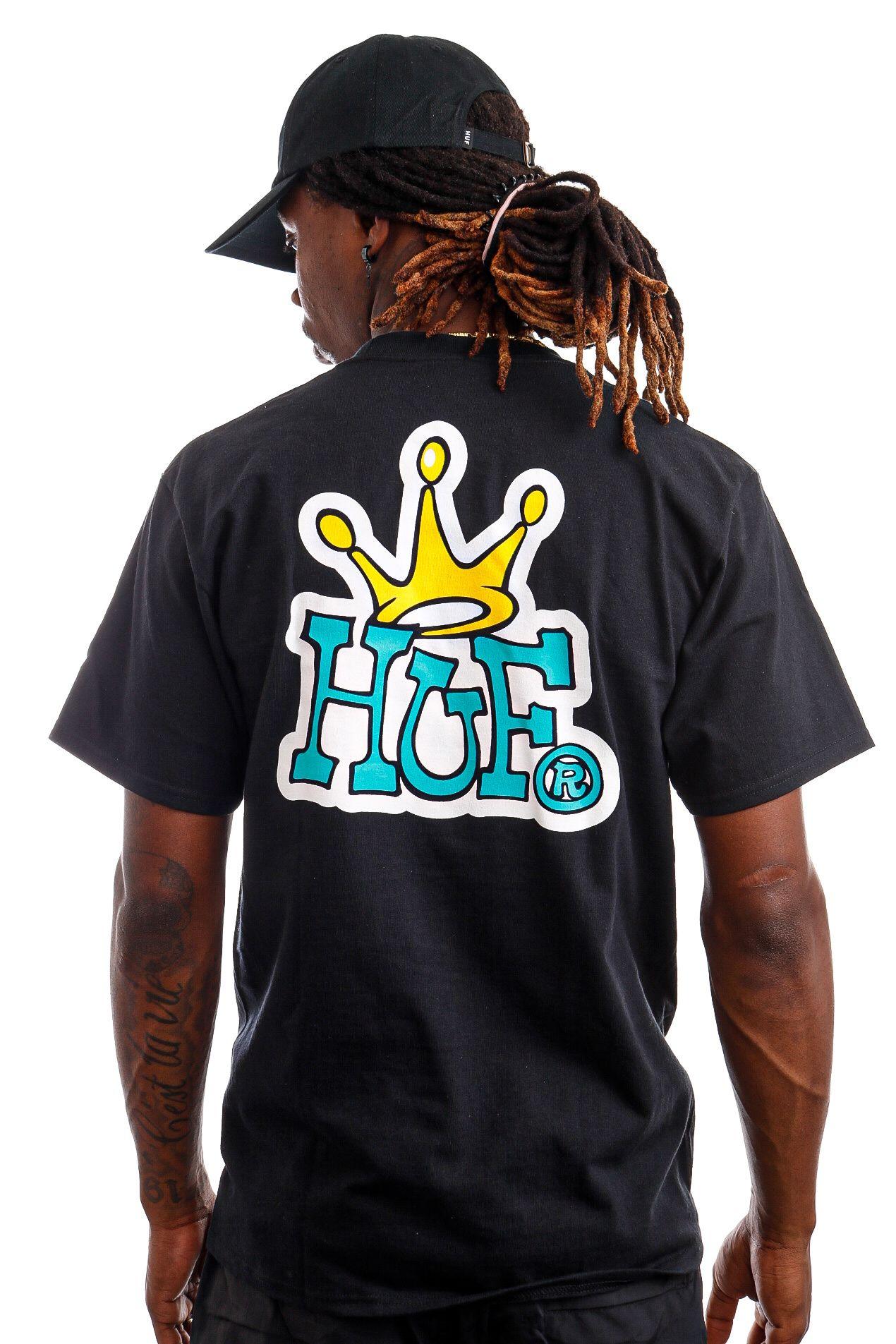 Afbeelding van HUF T-Shirt HUF CROWN LOGO Black TS01414