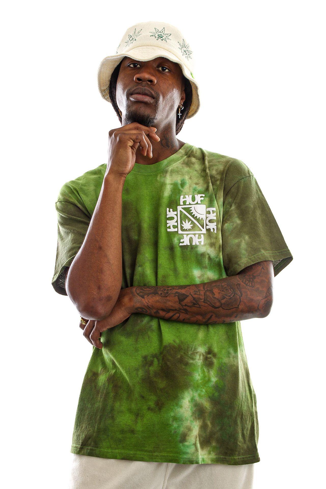 Afbeelding van HUF T-Shirt Sunshine Tie Dye S/S Tee Green TS01609
