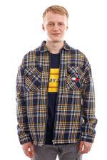 Tommy Jeans Blouse TJM CHECK ZIP OVERSH Twilight Navy / Multi DM0DM10980