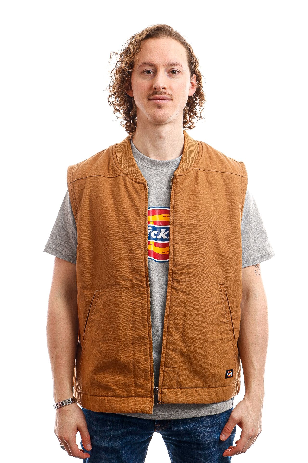 Afbeelding van Dickies Vest Sherpa Lined Vest Brown Duck DK0A4X8UBD01