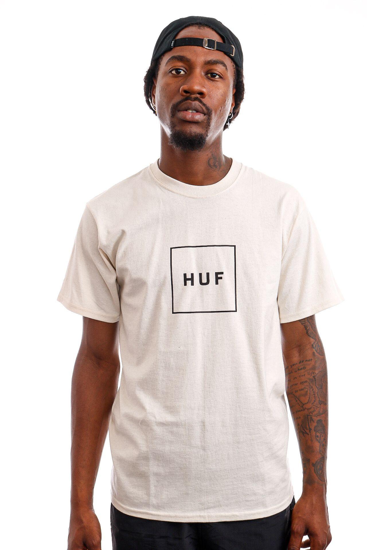 Afbeelding van HUF T-Shirt HUF ESSENTIALS BOX LOGO Natural TS00507