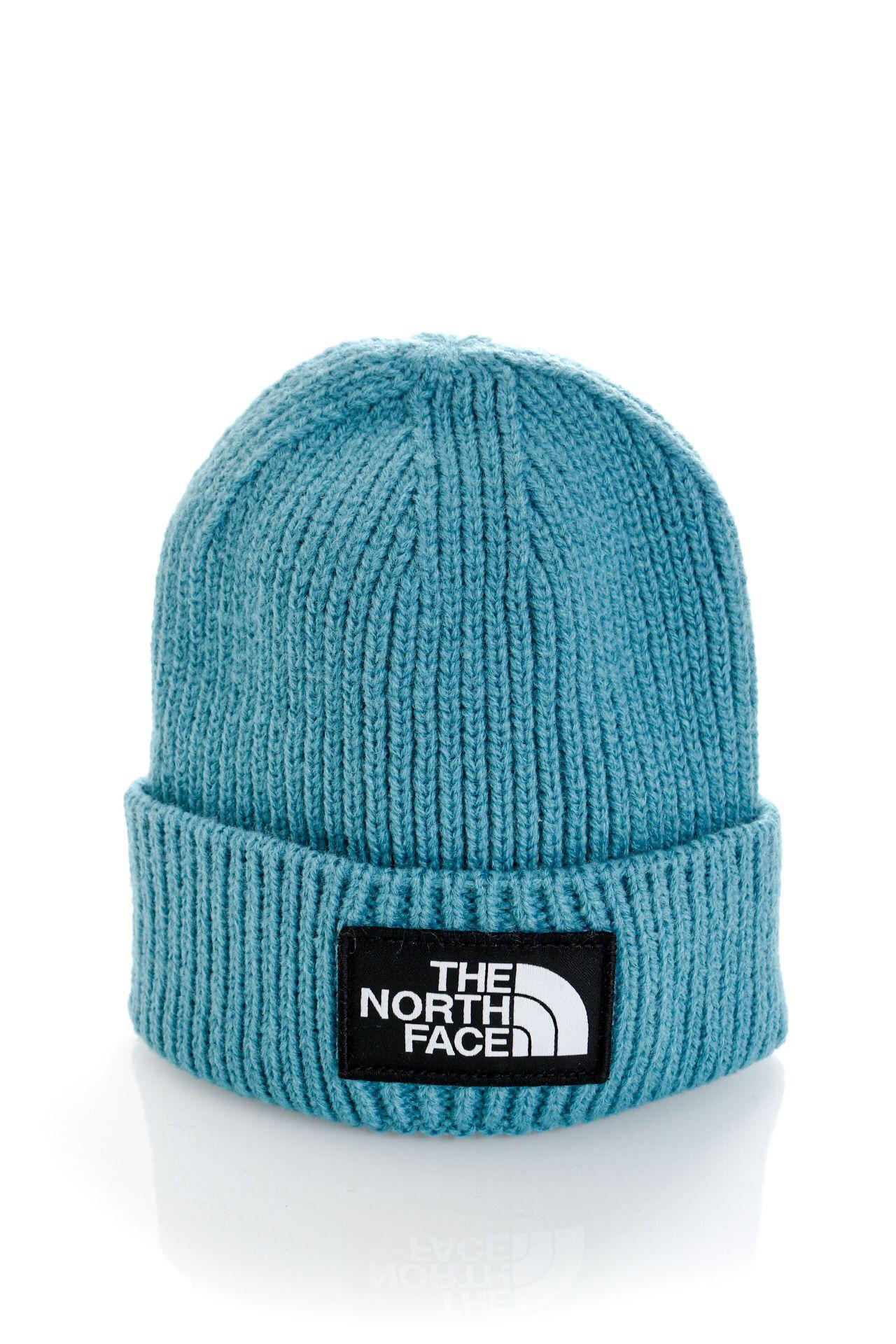 Afbeelding van The North Face Muts TNF LOGO BOX CUFFED SHT STORM BLUE NF0A3FJX4Y31