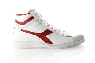 Foto van Diadora Game L High Waxed 501159657 Sneakers White/Red Pepper