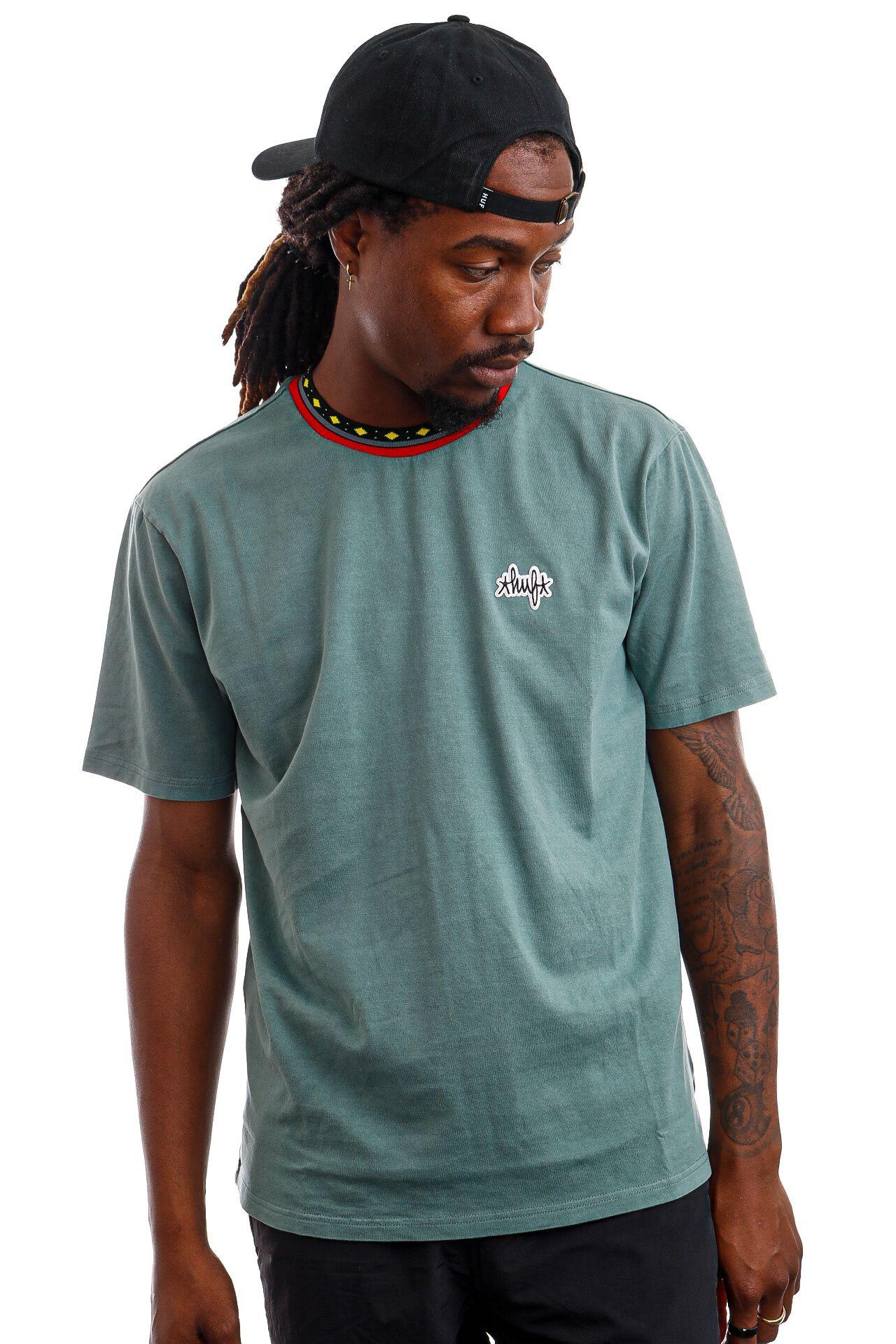 Afbeelding van HUF T-Shirt HUF TOBIAS S/S KNIT Sage KN00288
