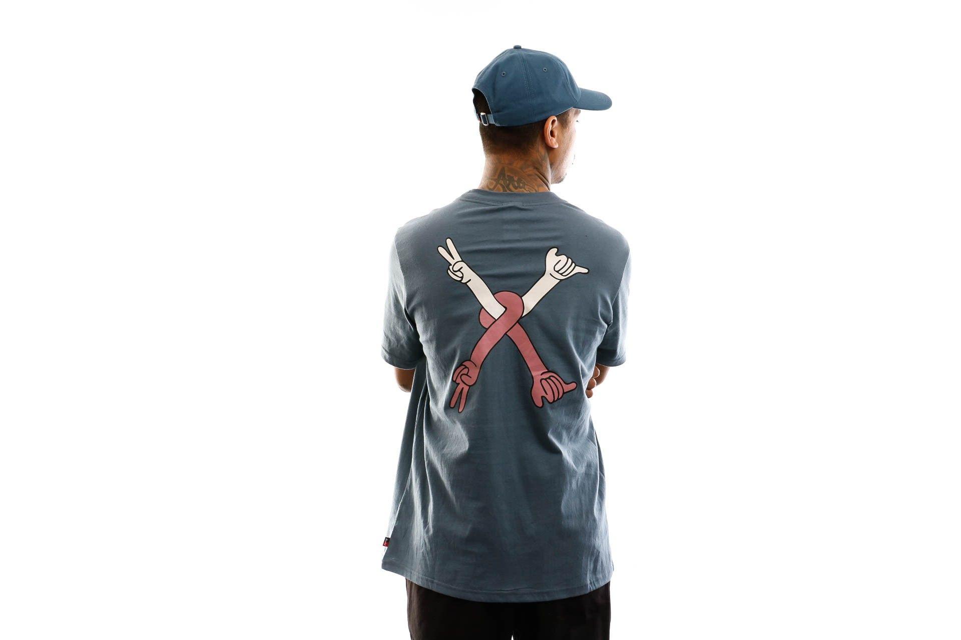 Afbeelding van Herschel T-shirt Kevin Butler | Men's Tee Peace X Shaka Blue Mirage 50027-00713