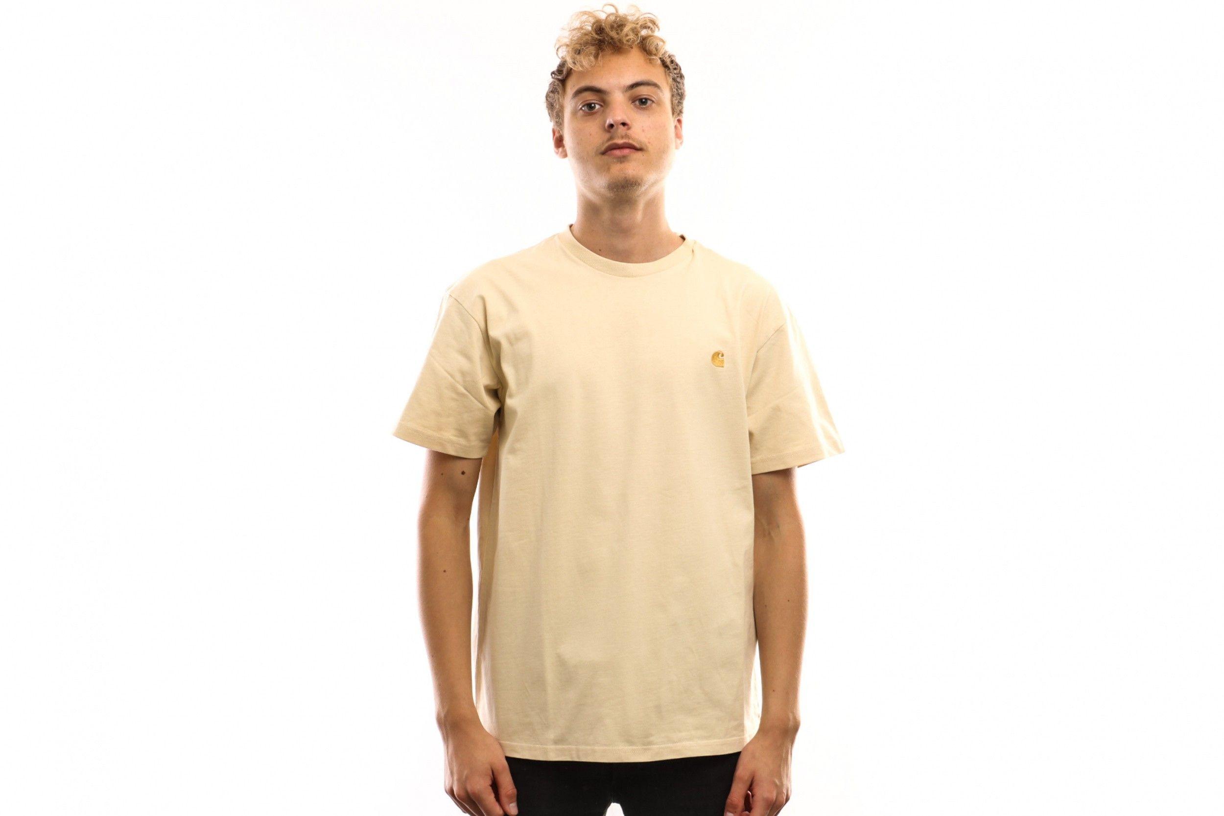 Afbeelding van Carhartt Wip S/S Chase T-Shirt I026391 T Shirt Flour / Gold