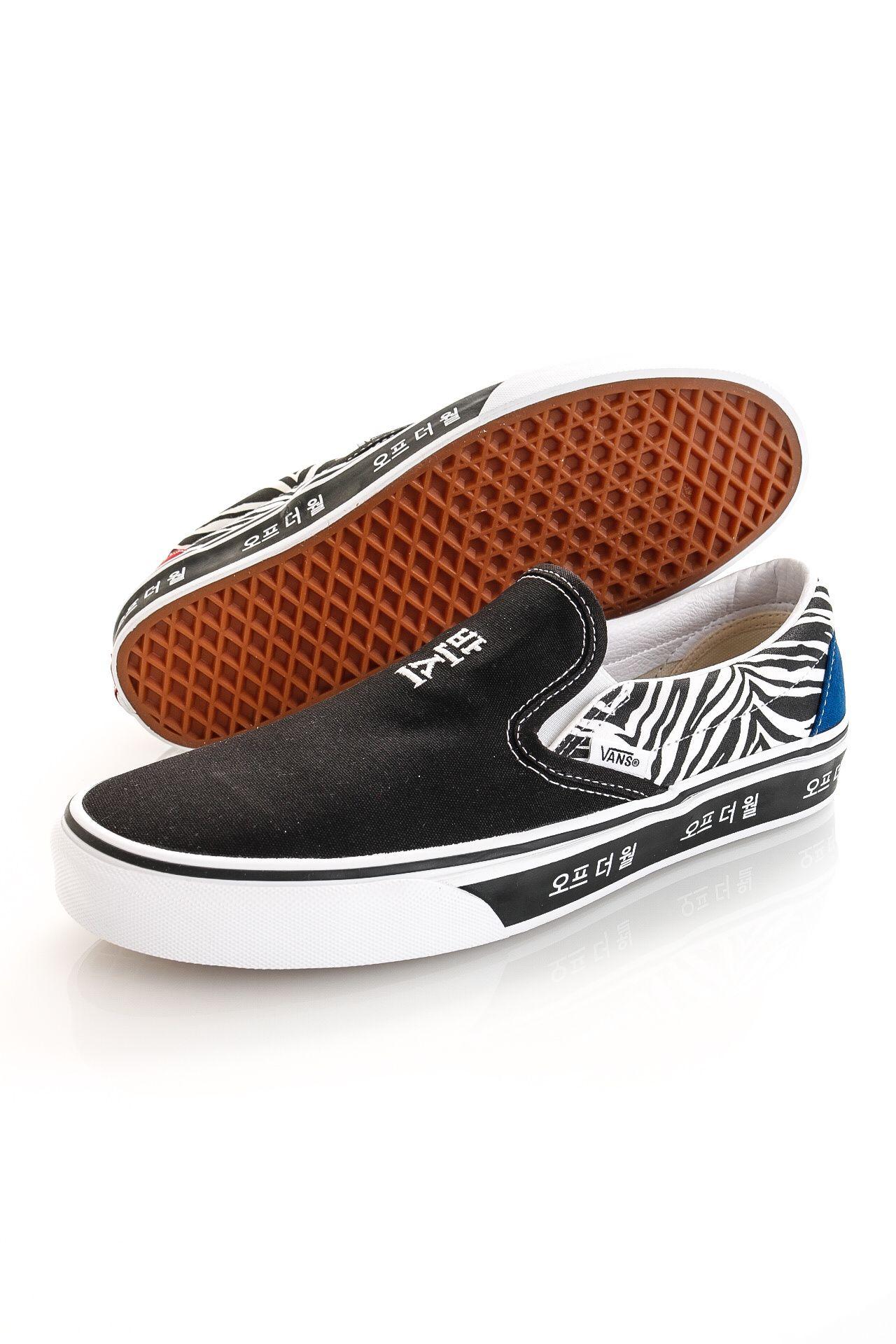 Afbeelding van Vans Sneakers UA Classic Slip-On (Korean Typography) Racing Red/True Blue VN0A33TB9HW1