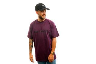 Foto van Carhartt T-shirt S/S Script T-Shirt Boysenberry / Black I023803