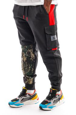 Afbeelding van Tommy Jeans Sweatpant TJM CAMO BLOCK SWEAT Black DM0DM10936