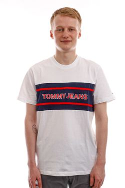 Afbeelding van Tommy Jeans T-shirt TJM STRIPE COLORBLOCK White / Multi DM0DM09950