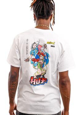 Afbeelding van HUF T-Shirt Chun-Li & Cammy S/S Tee White TS01553