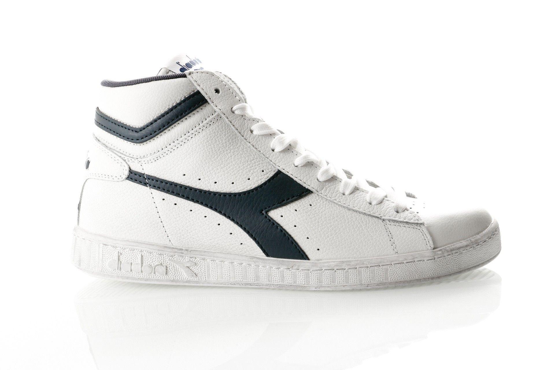 Afbeelding van Diadora Game L High Waxed 501159657 Sneakers White/Blue Caspian Sea
