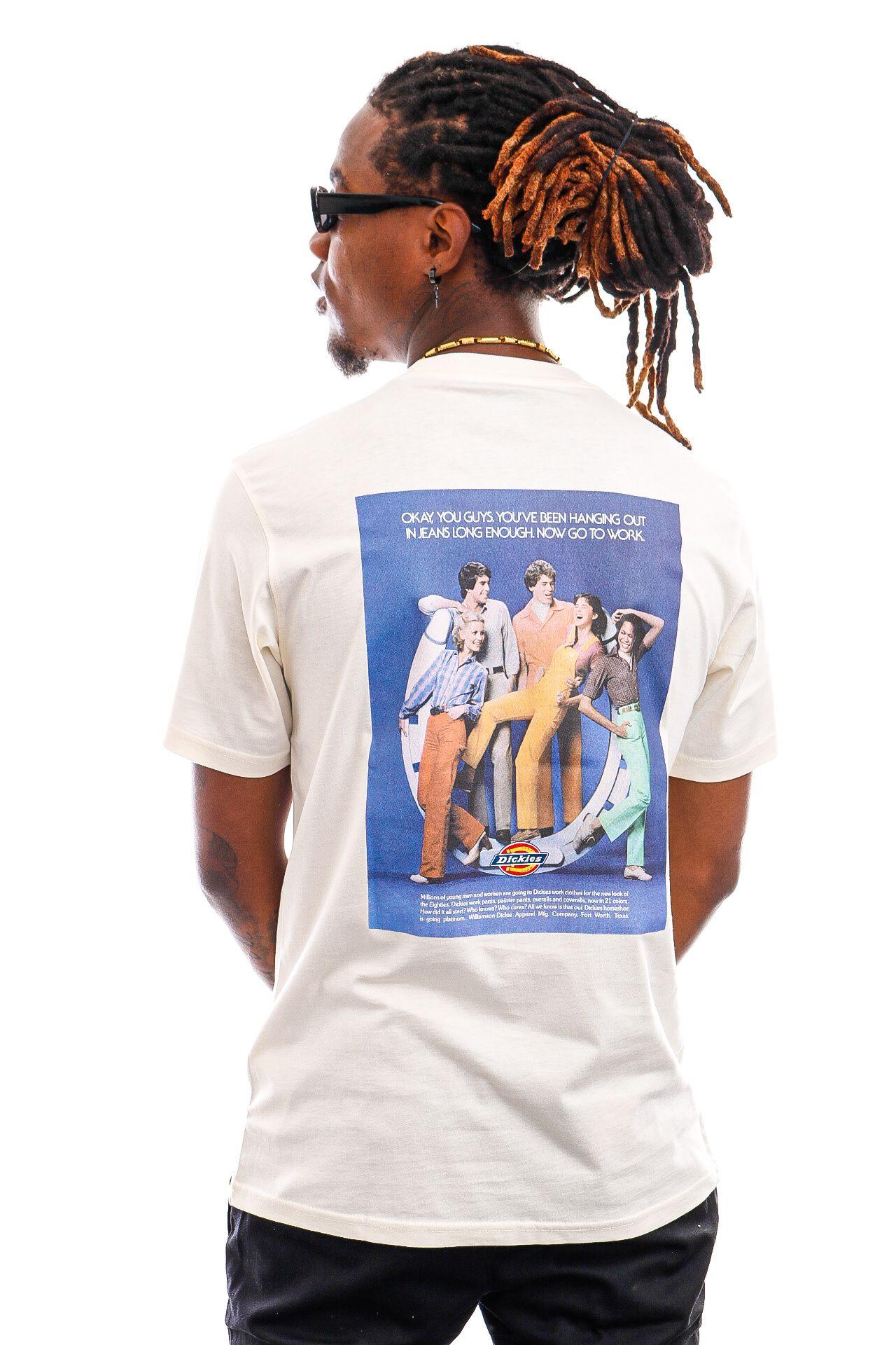 Afbeelding van Dickies T-shirt Bigfork Ecru DK0A4XENECR1