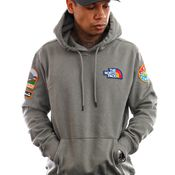 The North Face Hoodie Mens Novelty Patch Pullover Hoodie Agave Green NF0A55UGV381