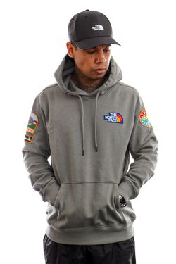 Afbeelding van The North Face Hoodie Mens Novelty Patch Pullover Hoodie Agave Green NF0A55UGV381