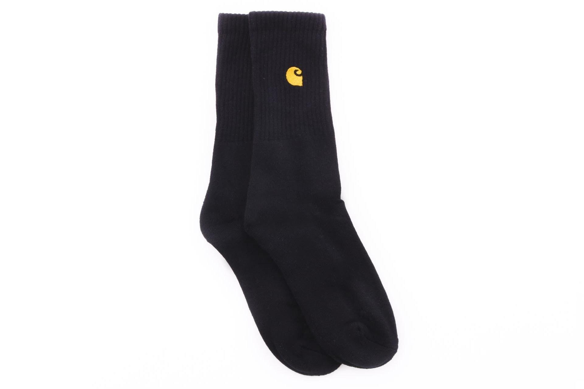 Afbeelding van Carhartt Wip Chase Socks I026527 Sokken Black / Gold