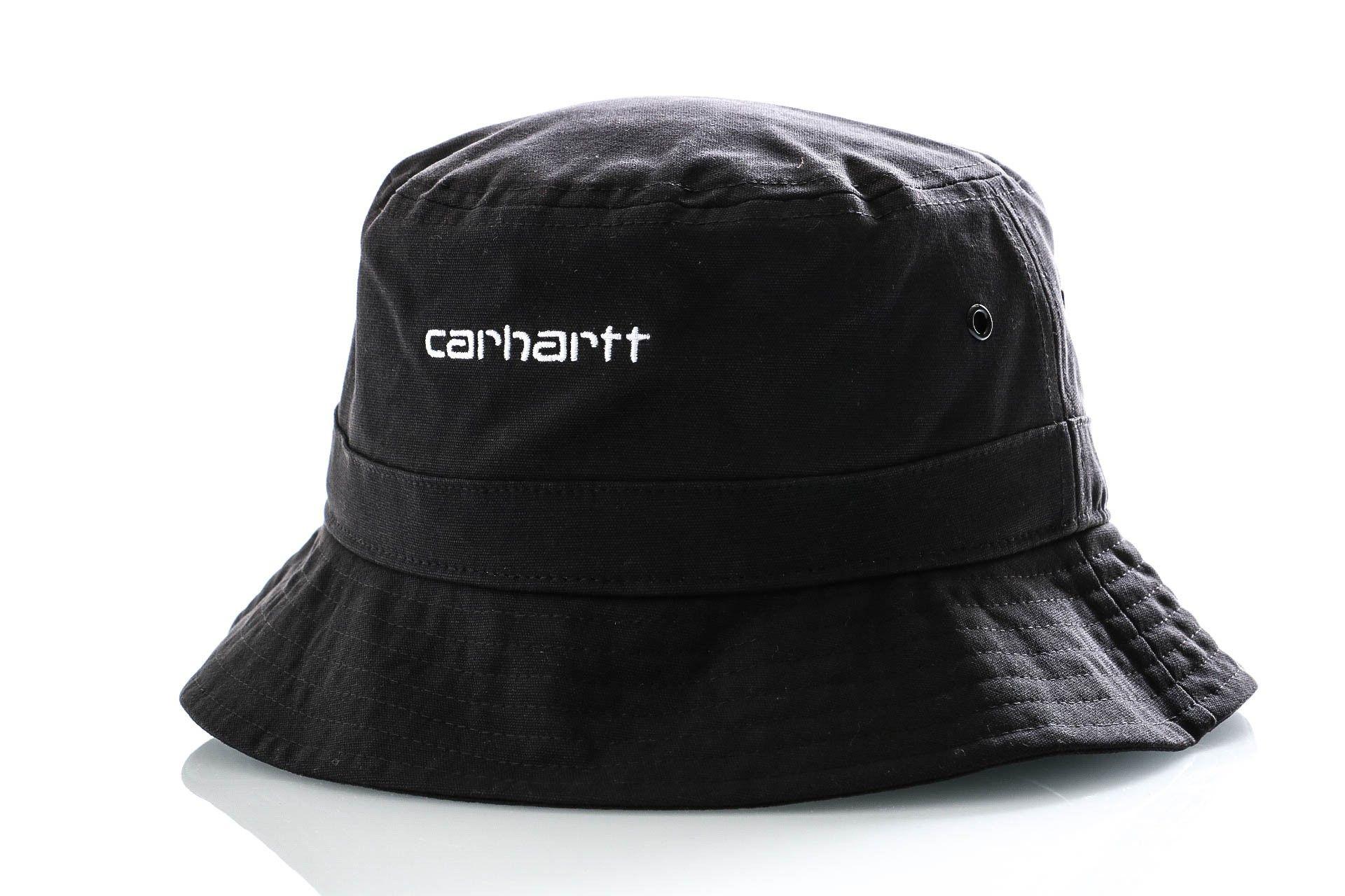 Afbeelding van Carhartt Bucket Script Bucket Hat Black / White I026217