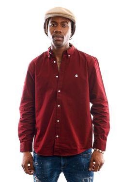 Afbeelding van Carhartt Blouse L/S Madison Shirt Bordeaux / Wax I023339